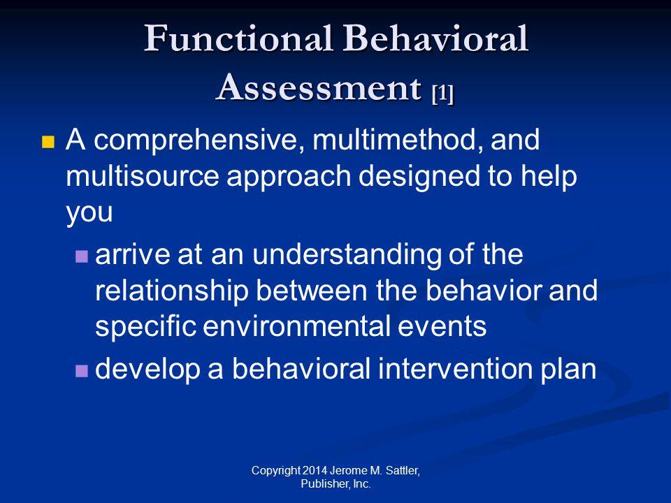 Functional Behavioral Assessment [1]